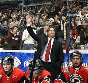 Patrick Roy coaching the Quebec Remparts