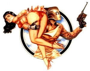 The Rocketeer saves the day, twice.