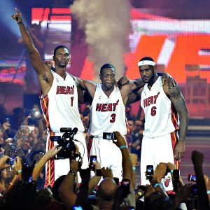 The Three Amigos in Miami won't be able to change the competitive balance in the NBA.
